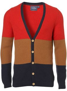 Color Block Textured Cardigan