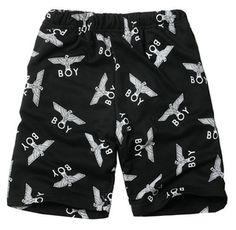Boy London All Over Crest Sweatshorts! Available in M, L, XL Streetwear Shorts, Top Street Style, Boy London, Fashion Labels, Patterned Shorts, Street Wear, Boys, Eagle, How To Wear