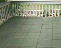 Rubber Form Patio Paver Tiles are the safe, durable and long-lasting alternative to concrete or stone paving blocks. Ideal for large, high-traffic areas or ornate garden pathways as well as for Rooftop walkways ro Rooftop patios. Our patio blocks are made of 100% heavy-duty recycled tire rubber, providing excellent resistance to severe wind/weather, as well as damaging UV rays. Traction is superb, even when wet. The soft, pliable material makes them an anti-fatigue surface with excellent impa...