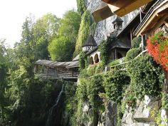 Switzerland, Bern, Lake Thun, St. Beatushöhlen, St. Beatus Caves