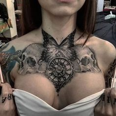 womenwithink: Chest piece by @ivangtattoo #chestpiece #chesttattoo…