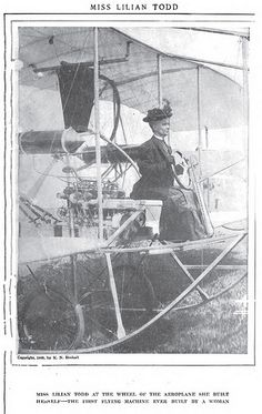 1911 January --- 1909 photo, Miss Lilian Todd , First woman to build a flying machine. | Flickr - Photo Sharing!