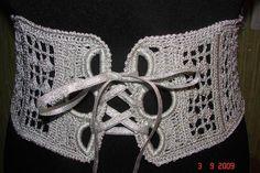 get inspired - wide belt, crochet, corset