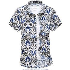 LONMMY Plus size 6XL Casual mens shirts flower Fashion Floral men shirt dress camisa masculina Short sleeves shirts 2018 summer