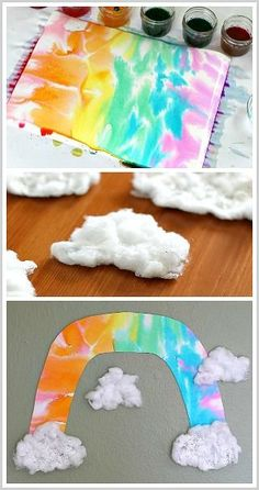 Unique Rainbow Craft for Kids: Perfect for spring and St. Patrick's Day! ~ BuggyandBuddy.com