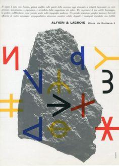Alfieri Lacroix, Graphic design and text by Franco Grignani, 1960
