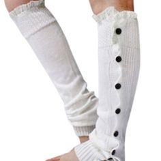 ✨Last Piece ✨🆕 Comfy Cozy Chic Leg Warmers ✨ ✨Sale✨ Comfy Crochet Knit Button Leg Warmers with Lace Trim ✨❣Last Pair ❣ Accessories Hosiery & Socks