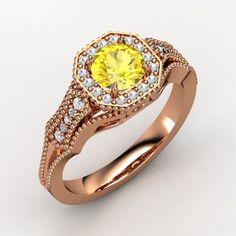The Melissa Ring #customizable #jewelry #sapphire #diamond #rosegold #ring