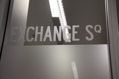 Wayfinding is an art in itself.  We did frosted meeting room signage on meeting rooms throughout this office.
