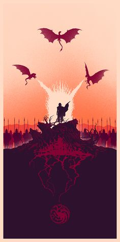 """Fire and Blood"" Tribute Art, part of Bottleneck Gallery's ""Winter is Here"" show."