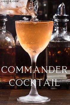 The Commander in Chief features two whiskies that will provide you all the company you need this winter. It's a perfect expression of a strong, spirit-forward and independent cocktail. Winter Cocktails, Classic Cocktails, Fun Cocktails, Cocktail Recipes, Whiskey Cocktails, Party Drinks, Fun Drinks, Drinks Alcohol Recipes, Alcoholic Drinks
