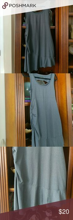 LOLE  Asymmetrical active wear dress Super cute Ruffled asymmetrical design with one sided ruching. Lightweight and easy care. EUC.    #Tennis dress #Sporty dress #Active wear Lole Dresses Asymmetrical