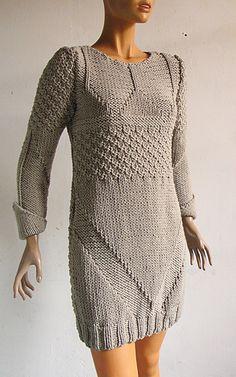 robe grise gros coton