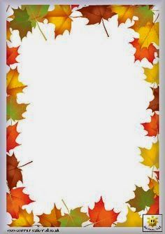 Image renooosult for fall writing paper templates Page Borders Design, Border Design, Borders For Paper, Borders And Frames, Borders Free, School Frame, Writing Paper, Printable Paper, Coloring Pages For Kids