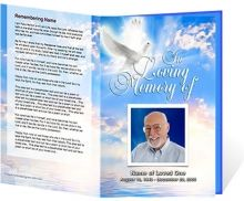 Free Funeral Program Template Microsoft Word   ... Passed: Free ...
