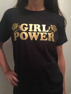 Girl Power Flower Graphic Tee, Feminist Shirt, Girlfriend Gift, Aesthetic Clothing, Feminism T-shirt Girl Power T Shirt, Unisex Clothes, Boho Summer Outfits, Rose Shirts, Feminist Shirt, Tumblr Outfits, Textiles, Graphic Shirts, Shirt Outfit