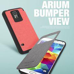 ARIUM BUMPER VIEW ANTI-SHOCK CASE FOR GALAXY S4. $13.60