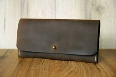 Damen Leder Geldbeutel Geldbörse handgefertigt Brieftasche