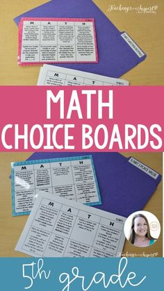These grade math choice boards perfect for math centers and early finishers in math. Common Core Standards, Common Core Math, 4th Grade Classroom, 5th Grade Math, Classroom Themes, Teaching Multiplication, Teaching Math, Math Resources, Math Activities
