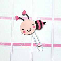 Bee Paper Clip // Planner Clip // Bookmark // Erin Condren // EC // Kikki K // Filofax // Plum Paper Planner // Inkwell Press
