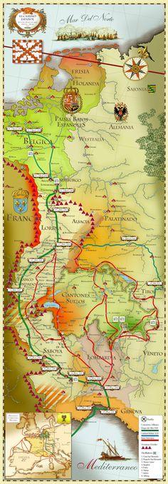 Los Países Bajos o Flandes, comprendían en el siglo XVI los actuales Estados de Bélgica. Holanda, Luxemburgo y algunos de los departamentos franceses del Noroeste. Por su riqueza y situación, eran …