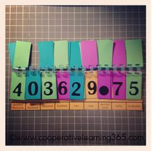 Classroom DIY: DIY Place Value Chart. All you need is card stock and binding comb! Place Value Chart, Math Place Value, Place Values, Decimal, Math Resources, Math Activities, Math Strategies, Math Classroom, Classroom Ideas