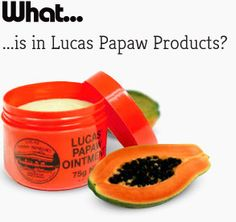 """This is such a versatile product. It can be used as a lip balm, hydrating face mask,  treatment for minor burns, nappy rash & chafing. """"Made in Australia with pure Paw Paw"""""""