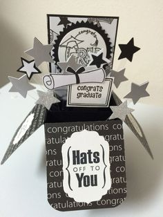 Graduation  Hats off to you Card in a box by MessagesAndMemories