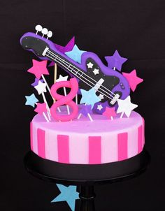 Bright & Girly Rockstar Birthday Party