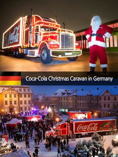[Coke Code 380] 행복을 전하는 코-크 해피니스 트럭! 산타클로스와 함께 독일의 크리스마스 마켓을 찾았답니다! 지난 크리스마스의 짜릿했던 추억~ 코-크 트친님들도 함께 되새겨보실래요? ^.~