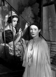 Portrait of Maria casares and Jean Louis Barrault for Les Enfants du Paradis directed by Marcel Carné, 1945. Photo by Roger Forster