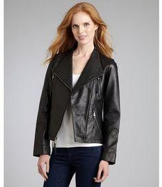ShopStyle: Wyattblack leather moto jacket