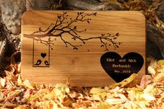 Personalized wedding gift for couple cutting board by Vyroby