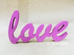 Love wood letter handmade - LOVE en madera hecho a mano by CanelasGift on Etsy