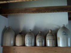 A few jugs on the mantle ❤  LORI TRIPLETT