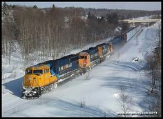Southbound 214 twists and winds it's way through the historic silver mining town of Cobalt February 12, 2015