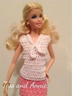 Tess and Annie: Free Crochet Pattern - Barbie Sailor Top