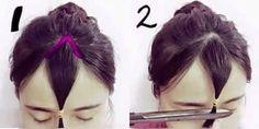 Thêm 2 cách tự cắt tóc mái thưa Hàn Quốc cực xinh