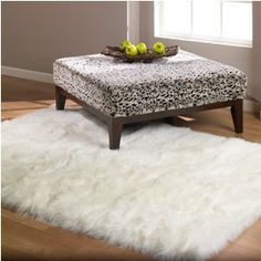 Shaggy White Faux Fur Polar Sheep Skin Accent Rug {love this so much. it's the softest thing!}