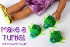 How To Make A Turtle For American Girl Dolls! (click through for tutorial)