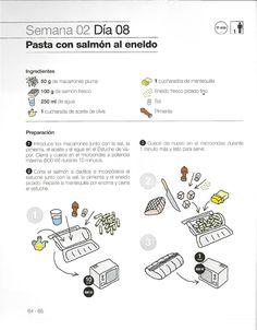 Pasta con salmon al eneldo en lekue