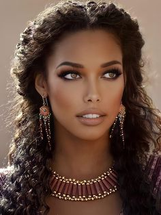 Beautiful Dark Skinned Women, Beautiful Black Girl, Most Beautiful Faces, Beautiful Eyes, Gorgeous Women, Beautiful People, Ebony Beauty, Dark Beauty, Brunette Beauty