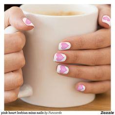 pink heart lesbian minx nails  Minx® nail art