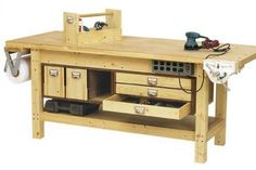Basic Workbench and 6 ways to beef it up Downloadable Plan   WOOD Magazine