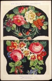 89/1389-106 Needlework pattern, paper, England, 1860-1900. Berlin wool design for travelling bag, Bow Bells - Powerhouse Museum Collection