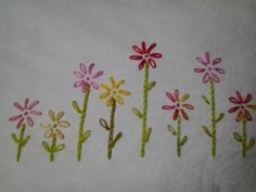 An Engineer's sewing life..: Easy embroidery pattern for pillowcases.