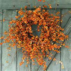 Rustic looking bittersweet wreath