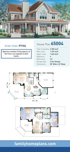 Farmhouse Plan 65004