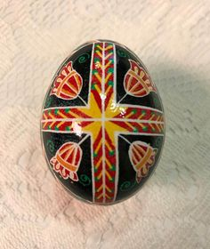 Flower Cross Pysanky by StiglianoDesigns on Etsy
