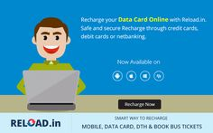 #Recharge your #DataCard Online with Reload.in. Safe and secure Recharge through credit cards, debit cards or netbanking. Visit @ www.reload.in/datacard/
